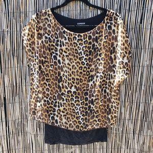 Express leopard print top